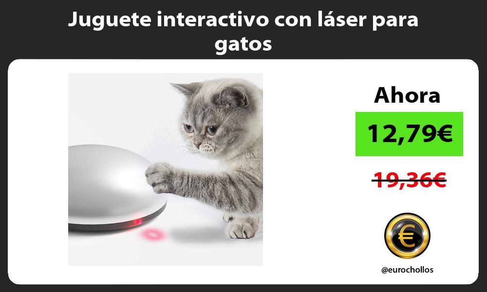 Juguete interactivo con láser para gatos