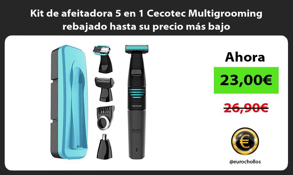 Kit de afeitadora 5 en 1 Cecotec Multigrooming rebajado hasta su precio más bajo
