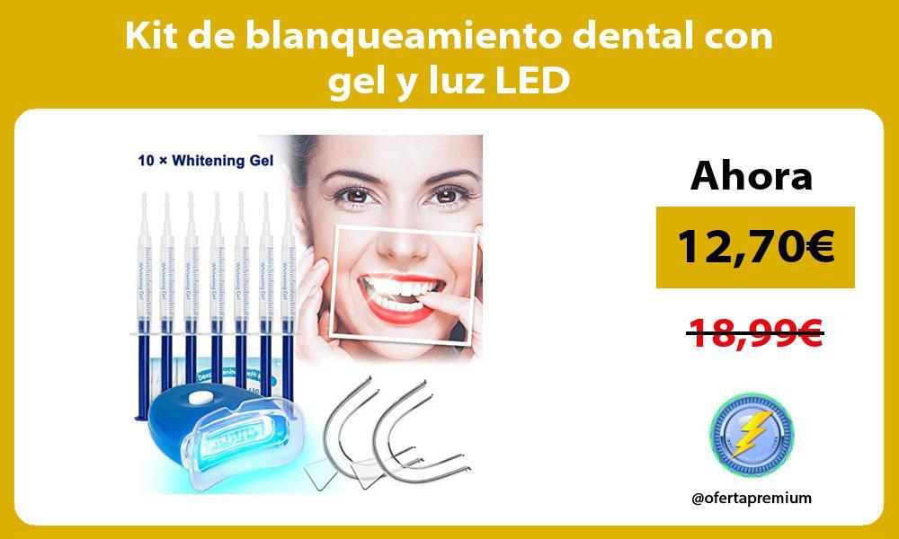Kit de blanqueamiento dental con gel y luz LED