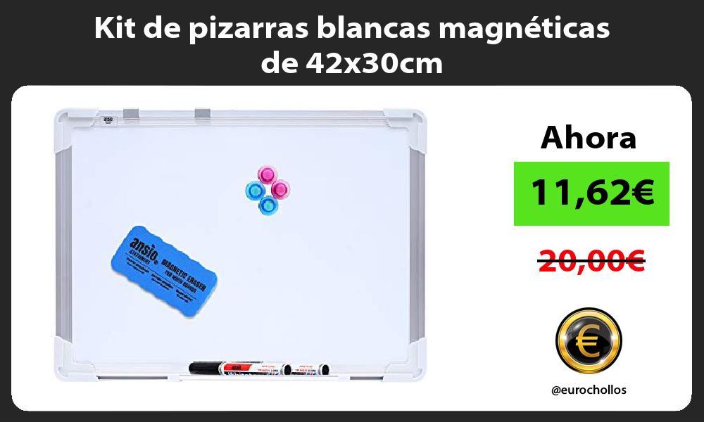 Kit de pizarras blancas magnéticas de 42x30cm