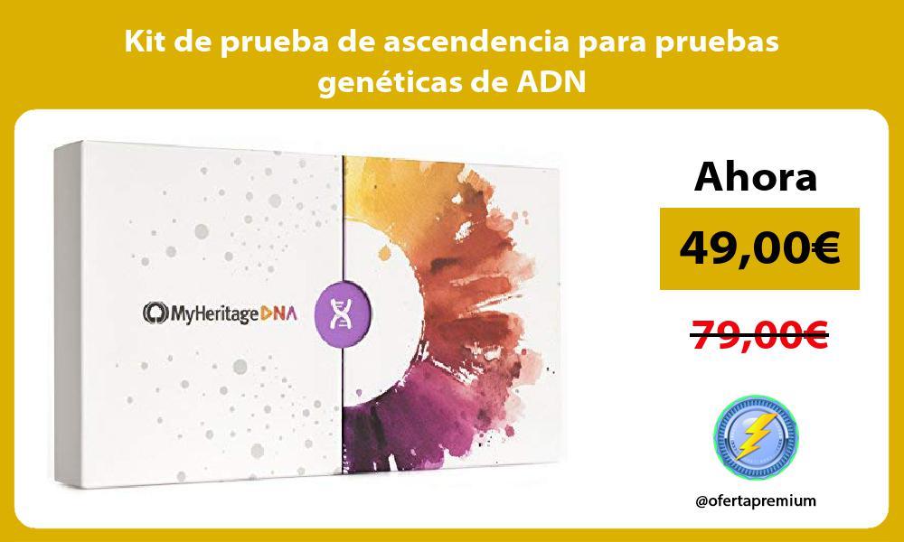 Kit de prueba de ascendencia para pruebas genéticas de ADN