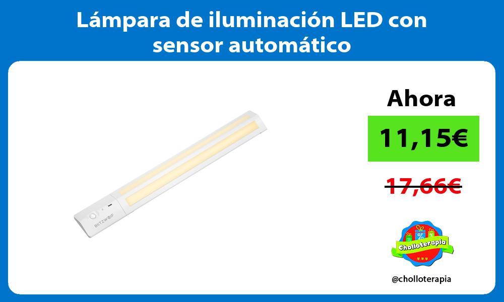 Lámpara de iluminación LED con sensor automático