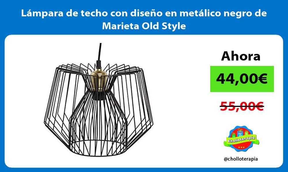Lámpara de techo con diseño en metálico negro de Marieta Old Style