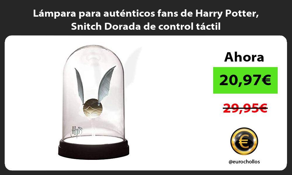 Lámpara para auténticos fans de Harry Potter Snitch Dorada de control táctil