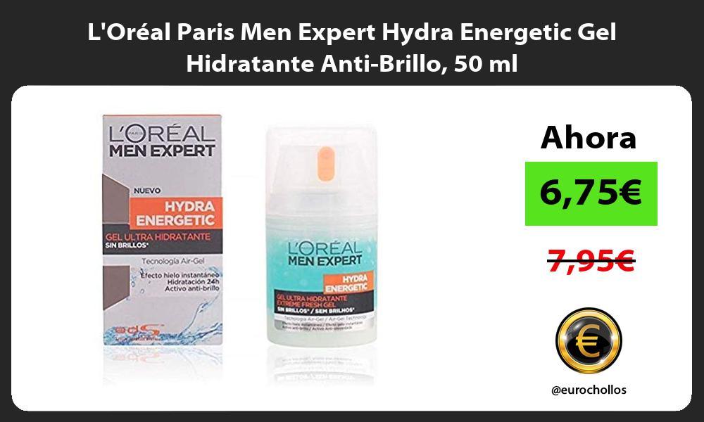 LOréal Paris Men Expert Hydra Energetic Gel Hidratante Anti Brillo 50 ml