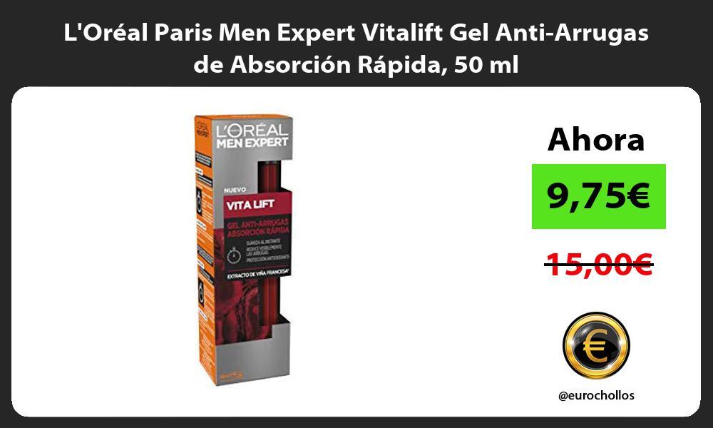 LOréal Paris Men Expert Vitalift Gel Anti Arrugas de Absorción Rápida 50 ml