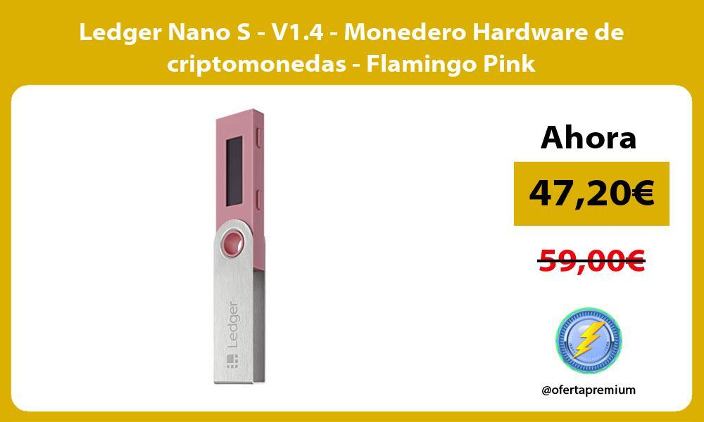 Ledger Nano S V1 4 Monedero Hardware de criptomonedas Flamingo Pink
