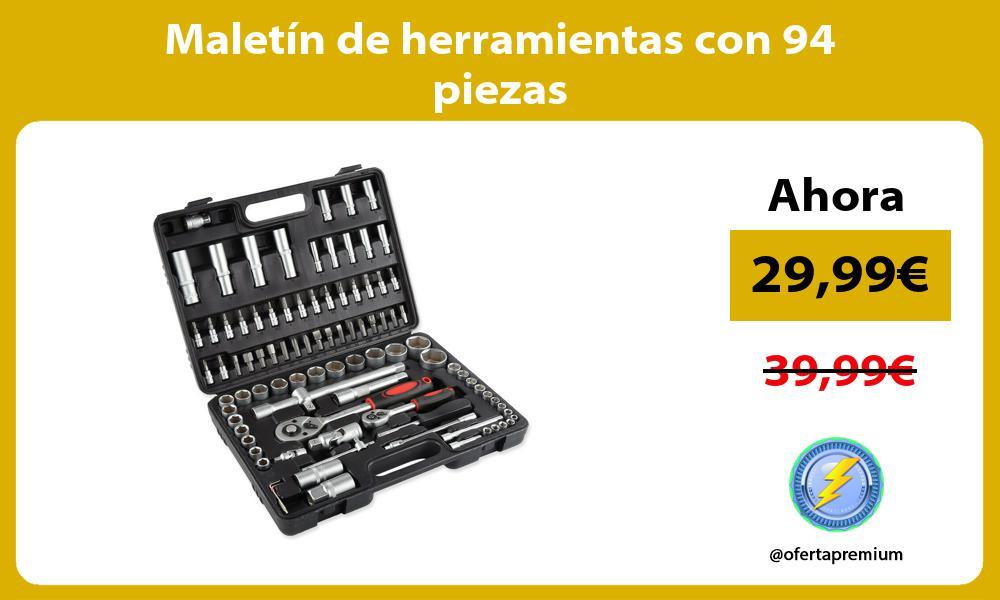 Maletín de herramientas con 94 piezas