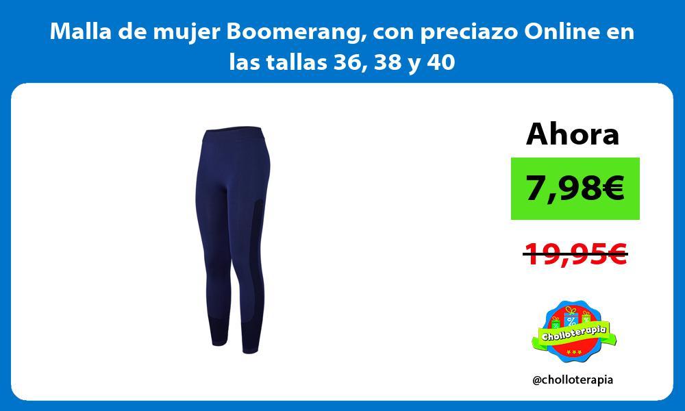 Malla de mujer Boomerang con preciazo Online en las tallas 36 38 y 40
