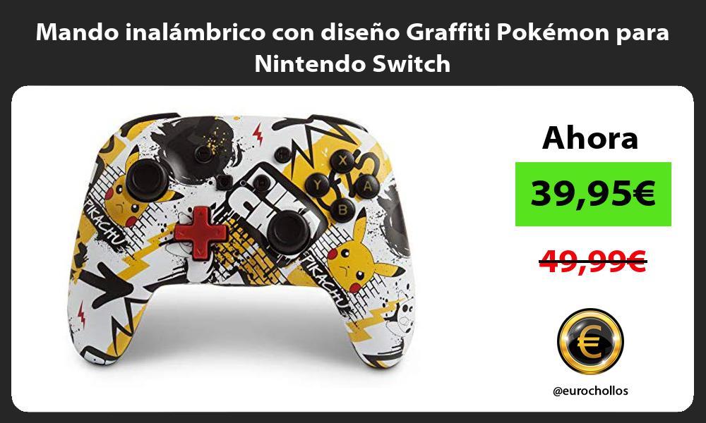 Mando inalámbrico con diseño Graffiti Pokémon para Nintendo Switch