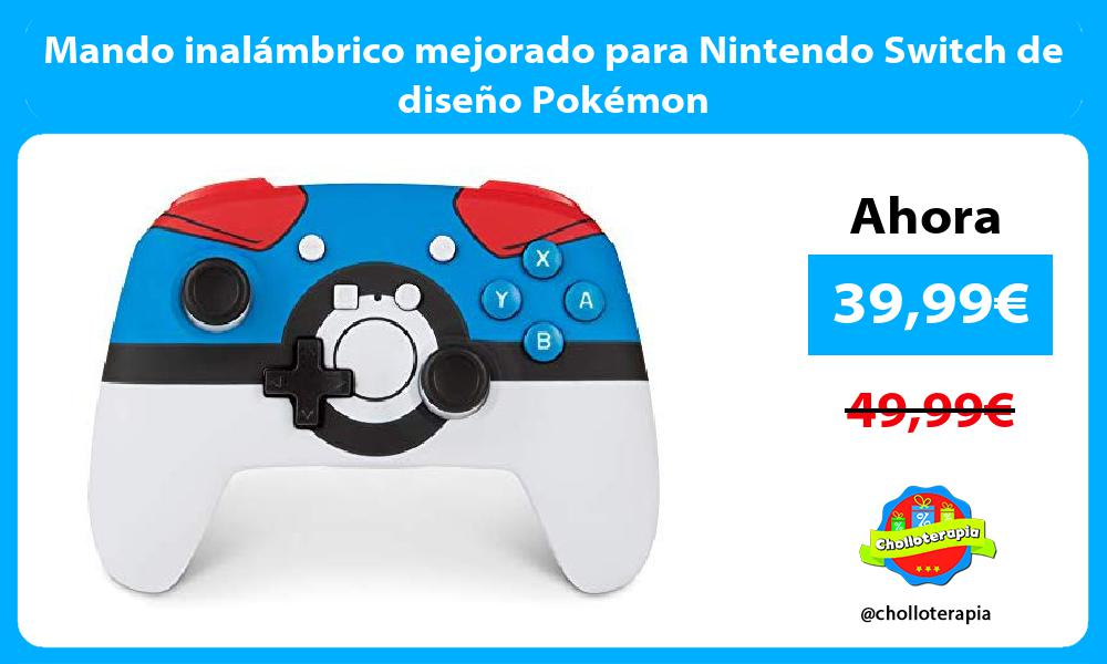 Mando inalámbrico mejorado para Nintendo Switch de diseño Pokémon
