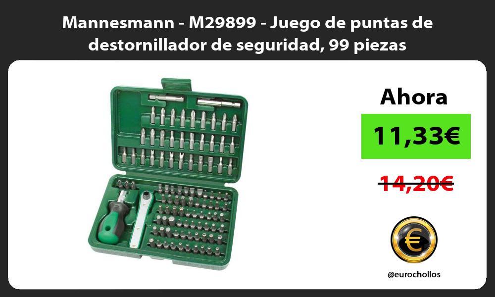 Mannesmann M29899 Juego de puntas de destornillador de seguridad 99 piezas