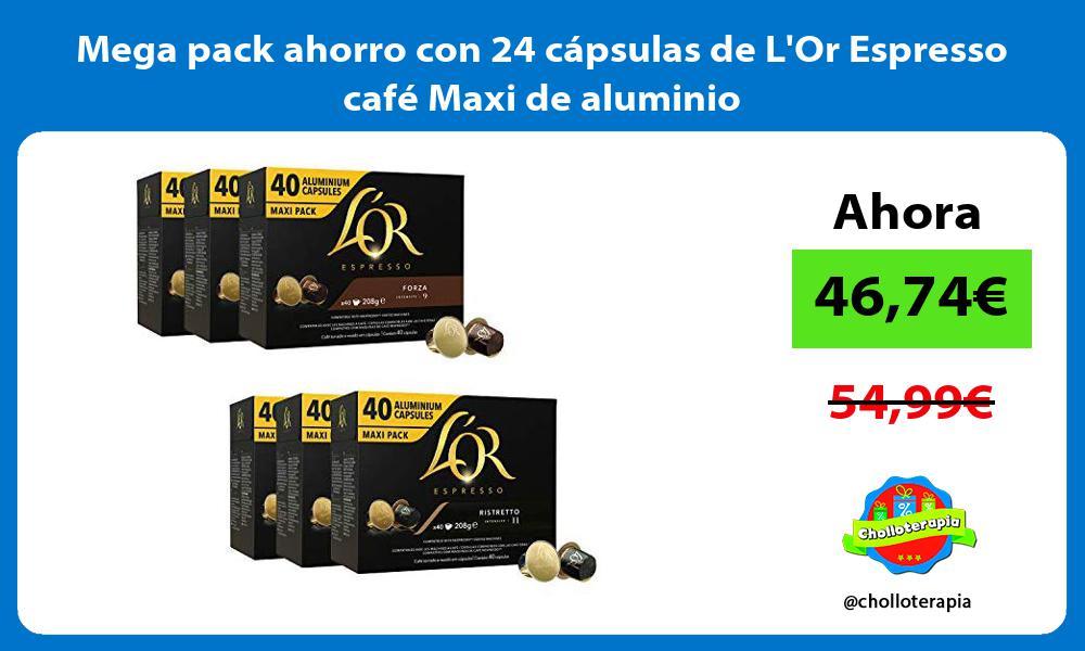 Mega pack ahorro con 24 cápsulas de LOr Espresso café Maxi de aluminio
