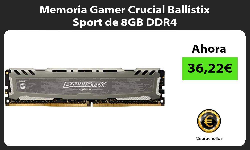 Memoria Gamer Crucial Ballistix Sport de 8GB DDR4