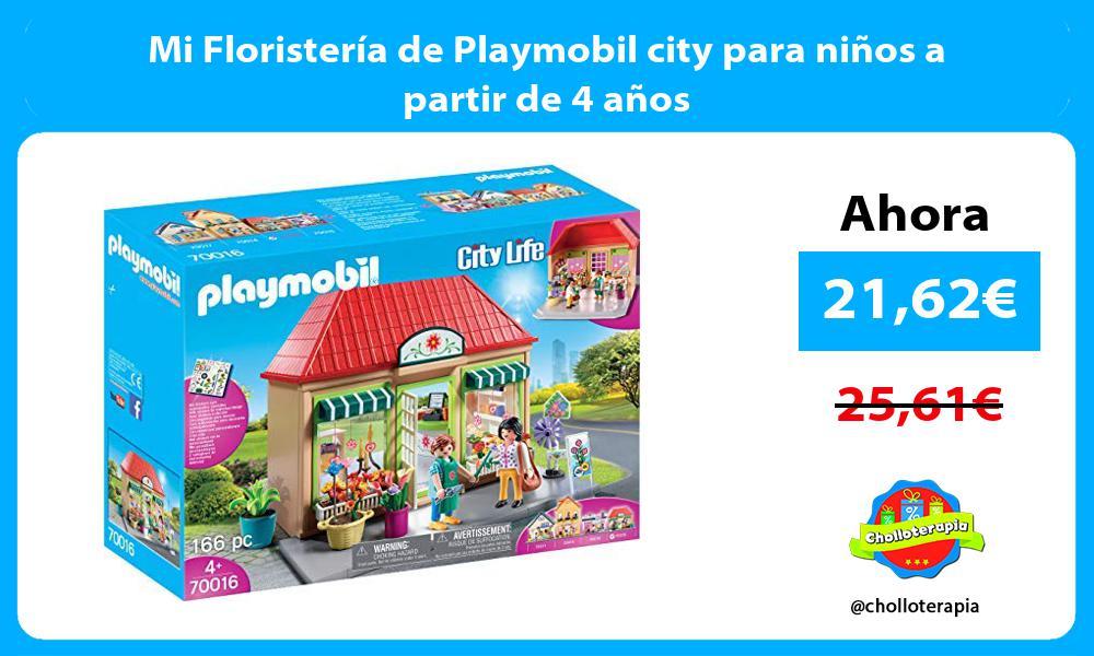 Mi Floristería de Playmobil city para niños a partir de 4 años