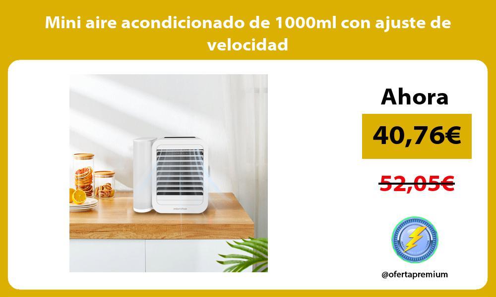 Mini aire acondicionado de 1000ml con ajuste de velocidad