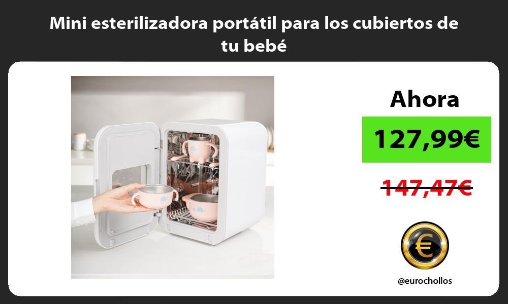 Mini esterilizadora portátil para los cubiertos de tu bebé