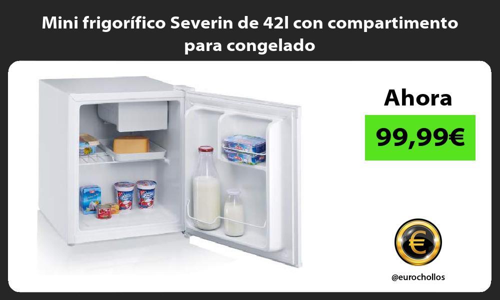 Mini frigorífico Severin de 42l con compartimento para congelado