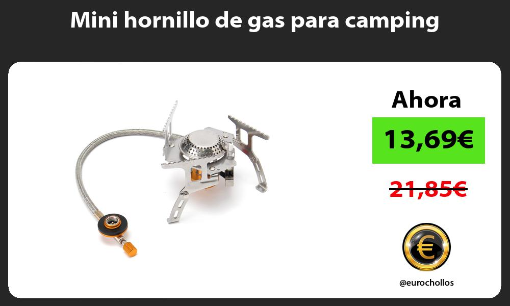 Mini hornillo de gas para camping
