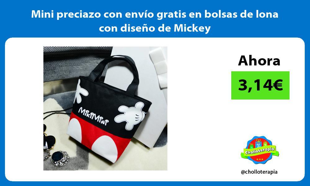 Mini preciazo con envío gratis en bolsas de lona con diseño de Mickey