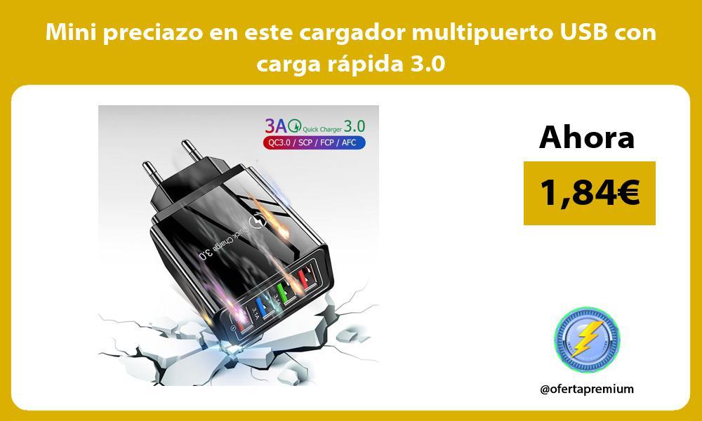Mini preciazo en este cargador multipuerto USB con carga rápida 3 0