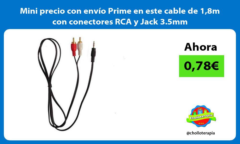 Mini precio con envío Prime en este cable de 18m con conectores RCA y Jack 3 5mm
