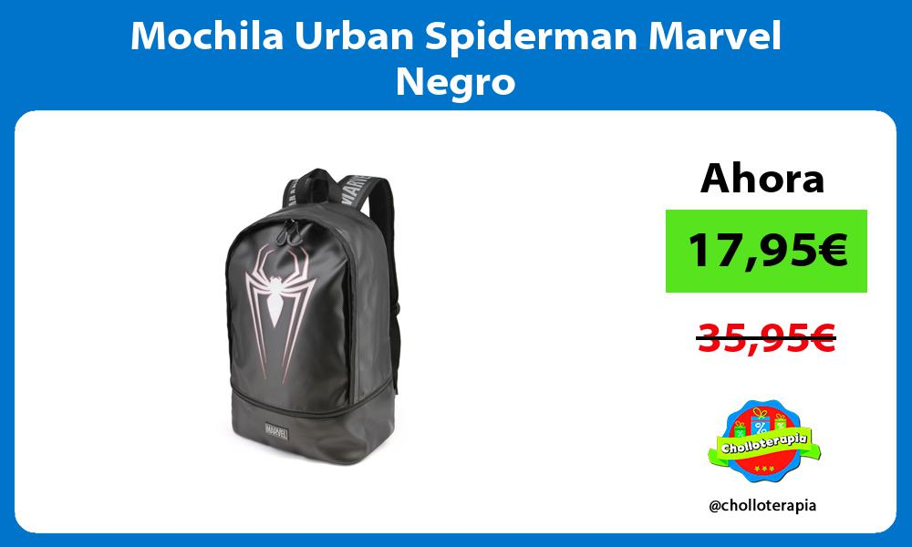 Mochila Urban Spiderman Marvel Negro