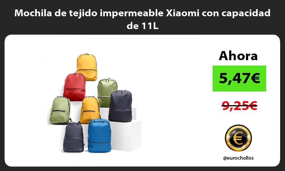 Mochila de tejido impermeable Xiaomi con capacidad de 11L