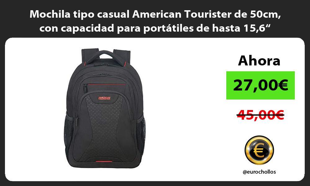 """Mochila tipo casual American Tourister de 50cm con capacidad para portátiles de hasta 156"""""""