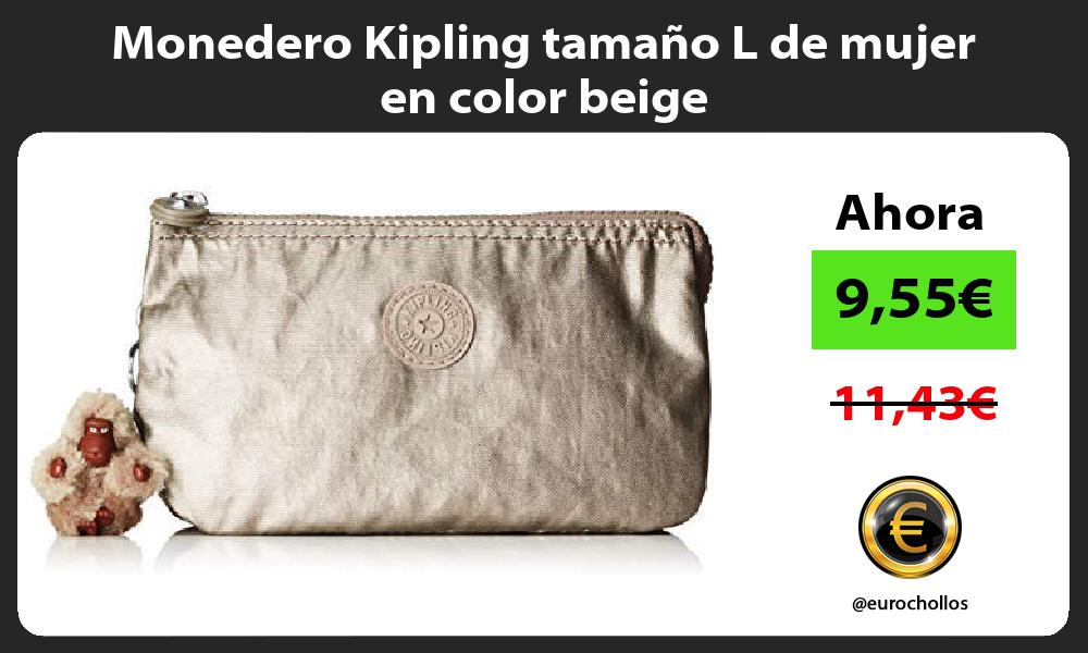 Monedero Kipling tamaño L de mujer en color beige
