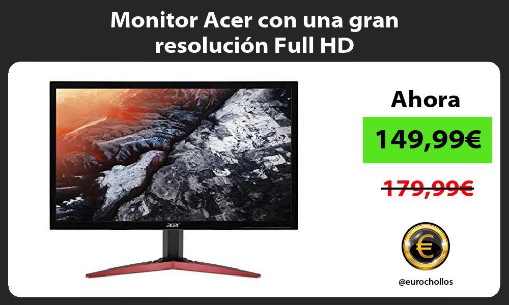 Monitor Acer con una gran resolución Full HD