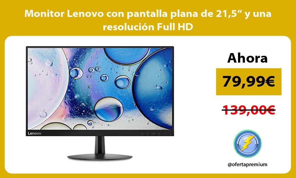 """Monitor Lenovo con pantalla plana de 215"""" y una resolución Full HD"""