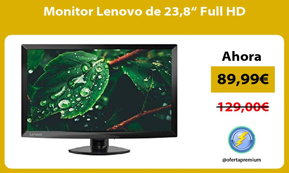 "Monitor Lenovo de 238"" Full HD"