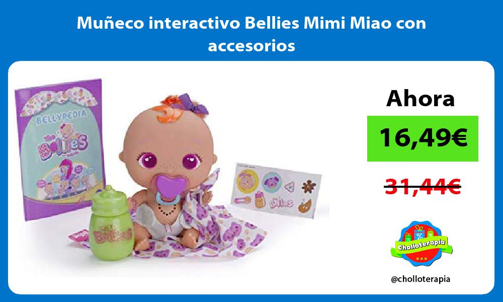 Muñeco interactivo Bellies Mimi Miao con accesorios