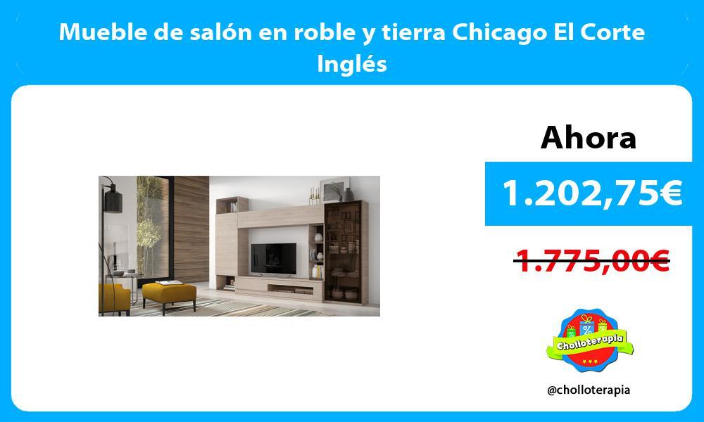 Mueble de salón en roble y tierra Chicago El Corte Inglés