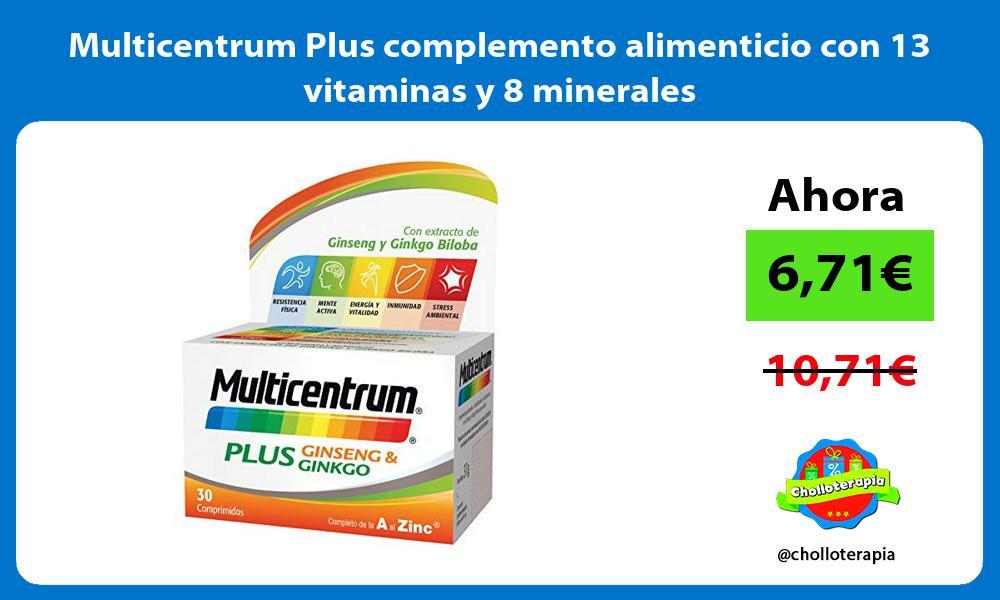 Multicentrum Plus complemento alimenticio con 13 vitaminas y 8 minerales