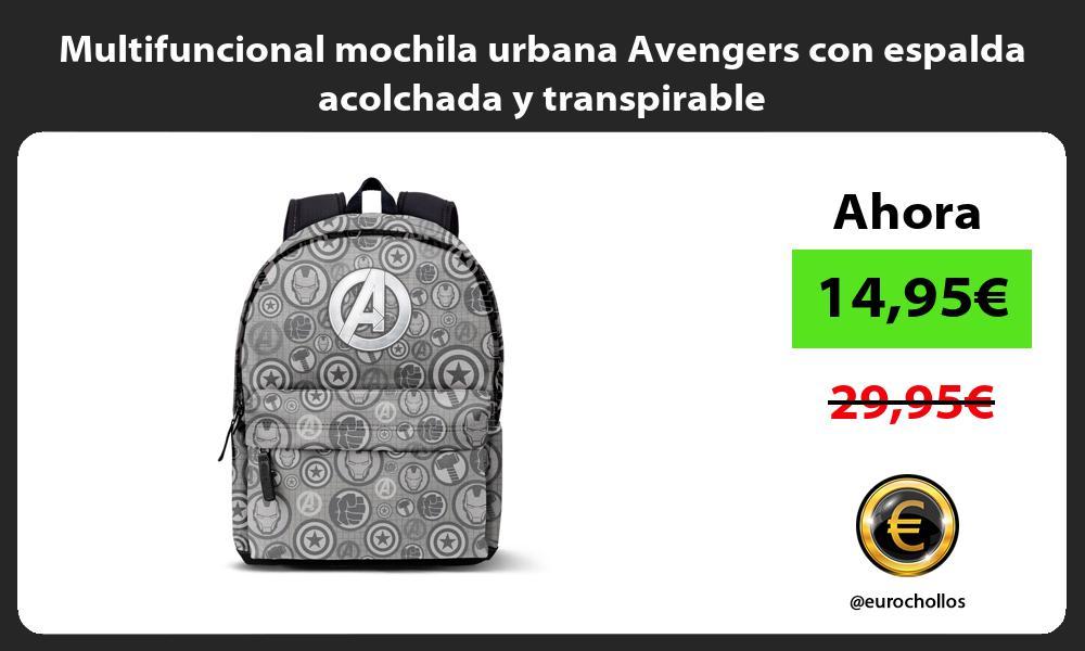 Multifuncional mochila urbana Avengers con espalda acolchada y transpirable