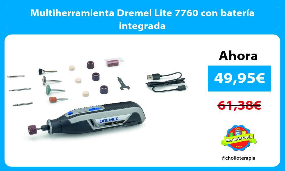 Multiherramienta Dremel Lite 7760 con batería integrada