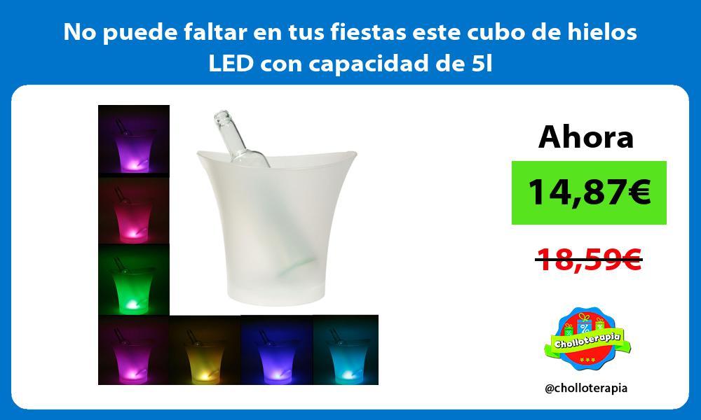 No puede faltar en tus fiestas este cubo de hielos LED con capacidad de 5l