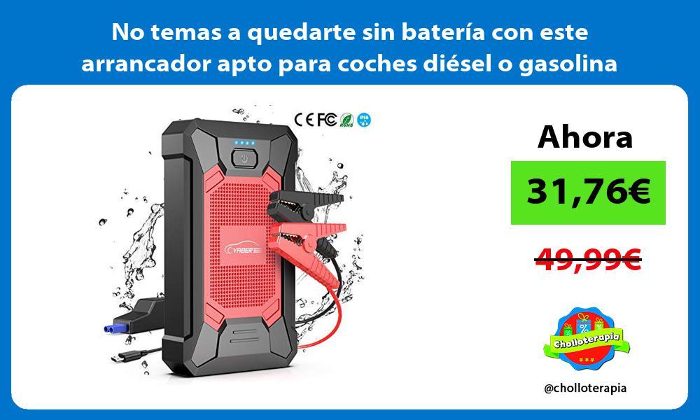 No temas a quedarte sin batería con este arrancador apto para coches diésel o gasolina