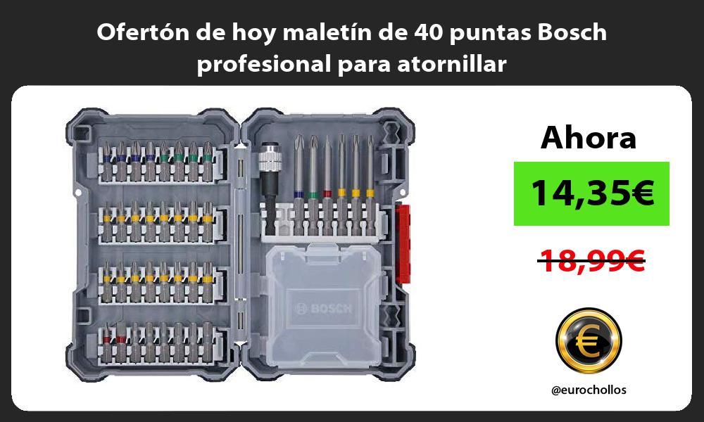 Ofertón de hoy maletín de 40 puntas Bosch profesional para atornillar