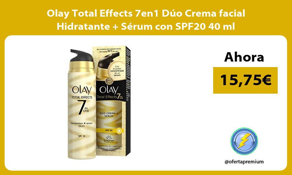 Olay Total Effects 7en1 Dúo Crema facial Hidratante Sérum con SPF20 40 ml