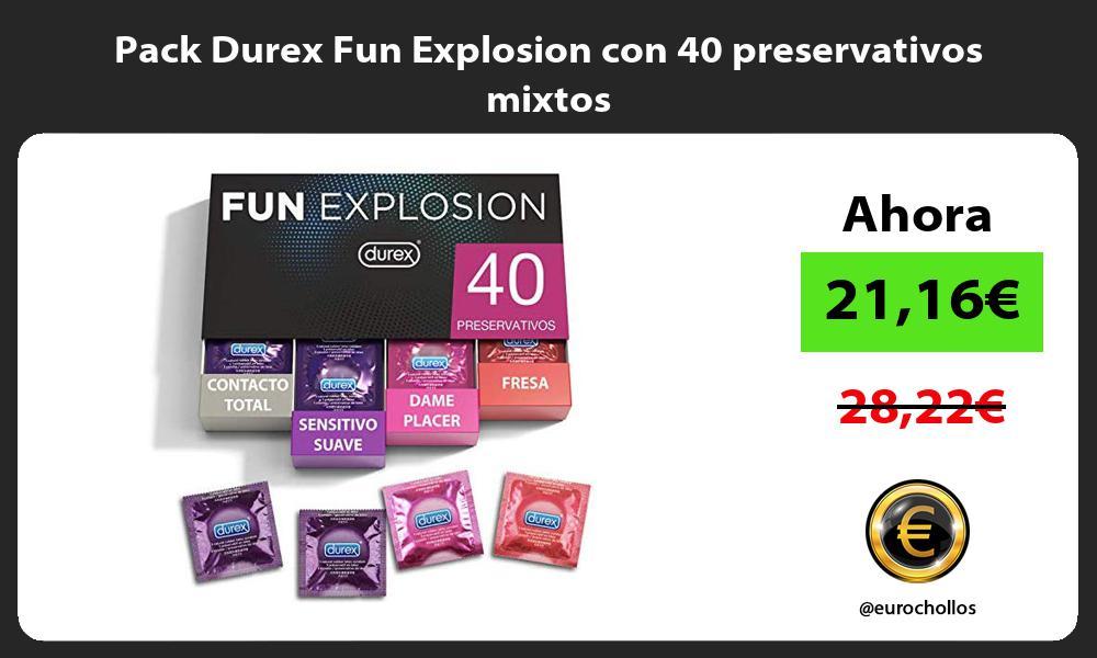 Pack Durex Fun Explosion con 40 preservativos mixtos