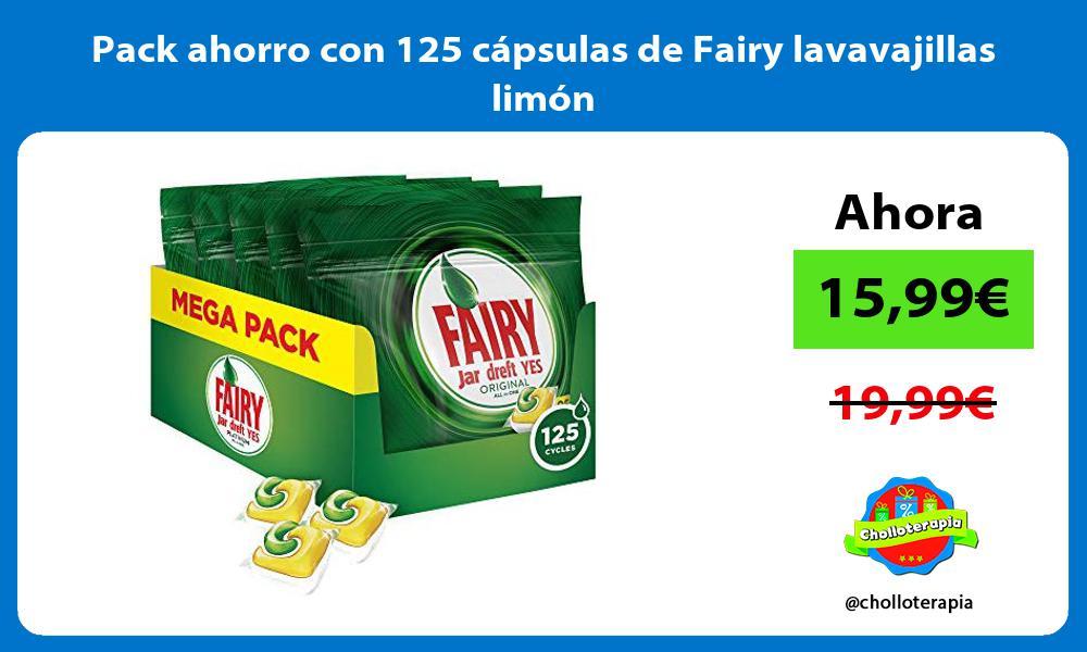 Pack ahorro con 125 cápsulas de Fairy lavavajillas limón