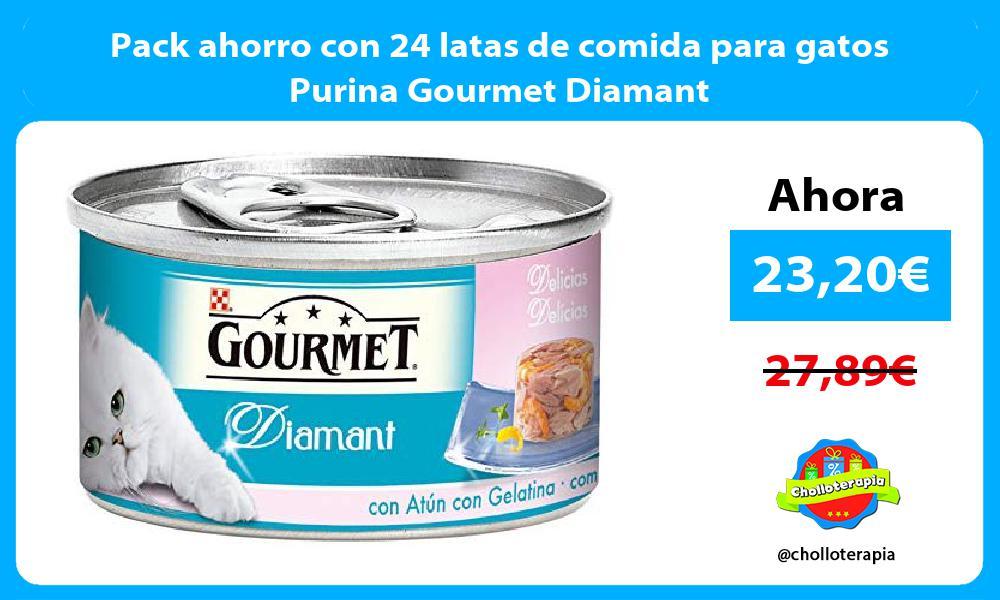 Pack ahorro con 24 latas de comida para gatos Purina Gourmet Diamant