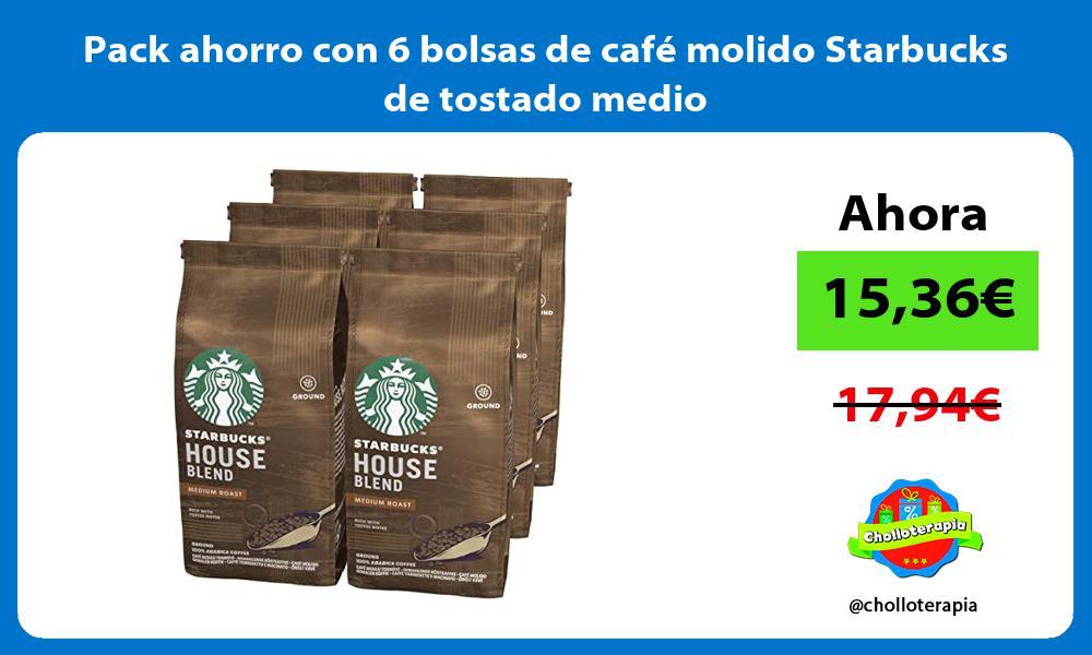 Pack ahorro con 6 bolsas de café molido Starbucks de tostado medio