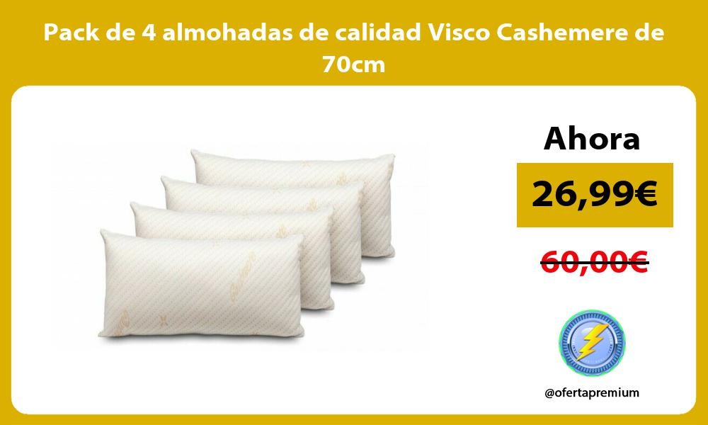 Pack de 4 almohadas de calidad Visco Cashemere de 70cm