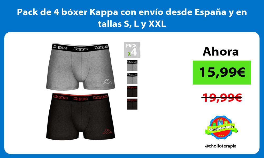 Pack de 4 bóxer Kappa con envío desde España y en tallas S L y XXL