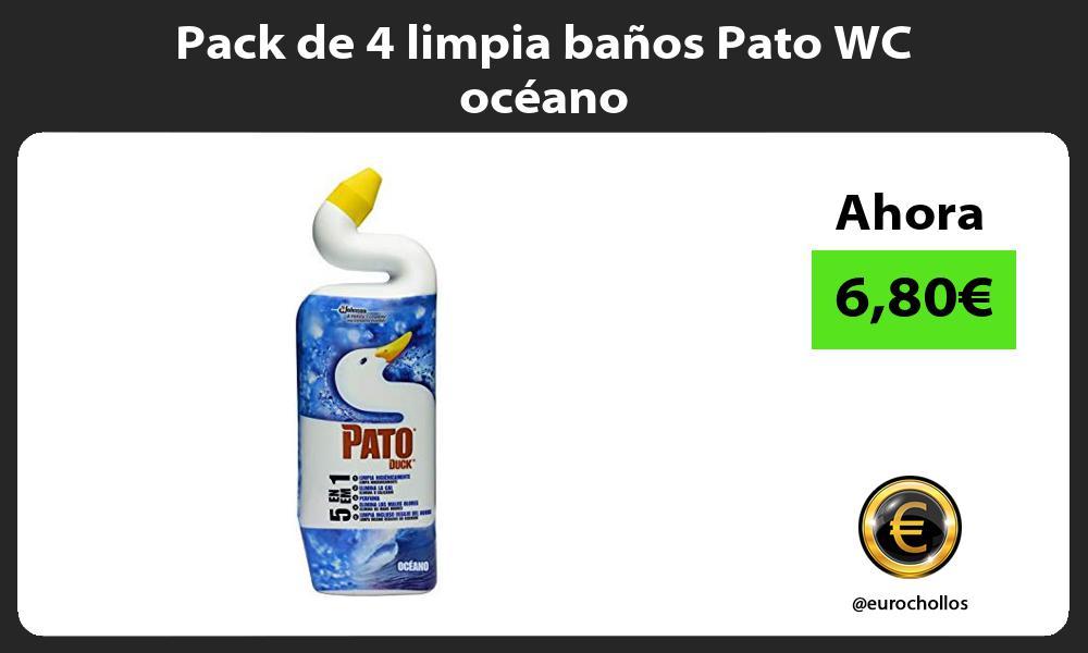 Pack de 4 limpia baños Pato WC océano