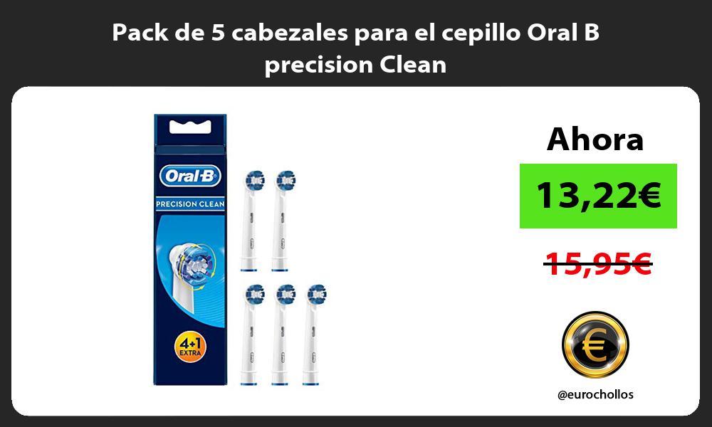 Pack de 5 cabezales para el cepillo Oral B precision Clean